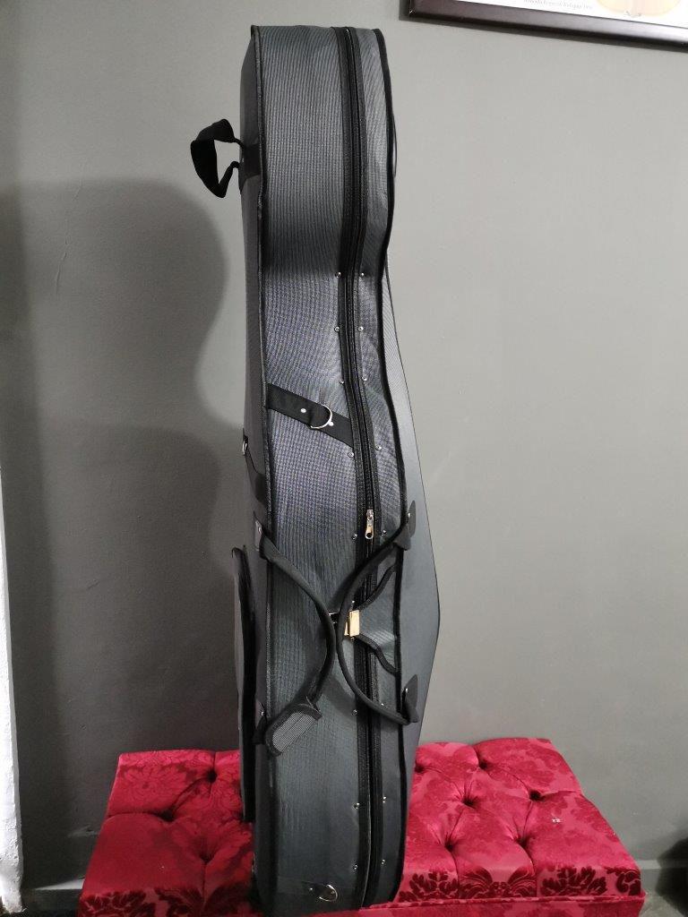 Estojo Case Cello Violoncelo 4/4 Orquezz Térmico Luxo cinza