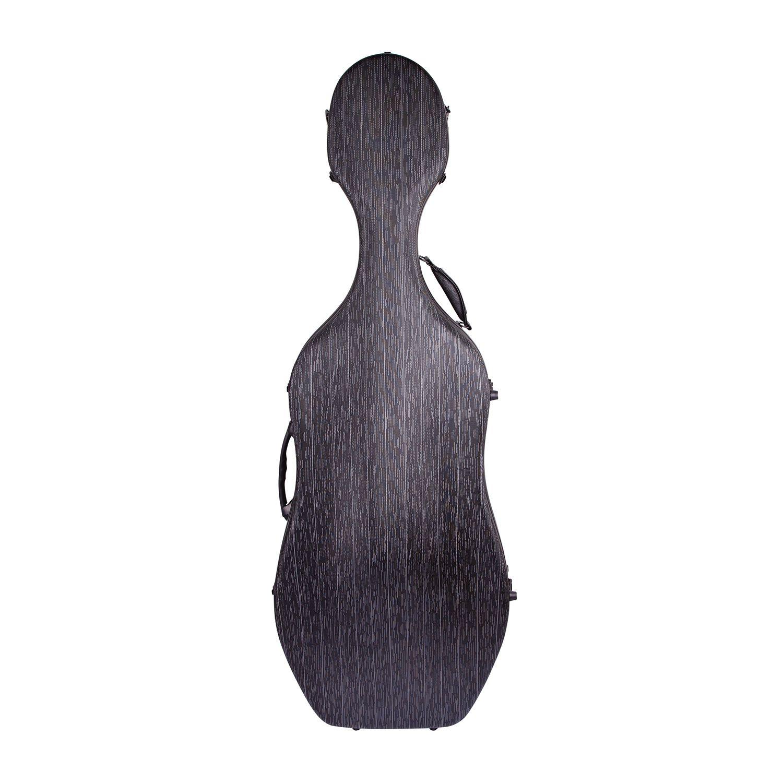 Estojo Case Fibra de vidro Cello Violoncelo 4/4 Orquezz Luxo Preto