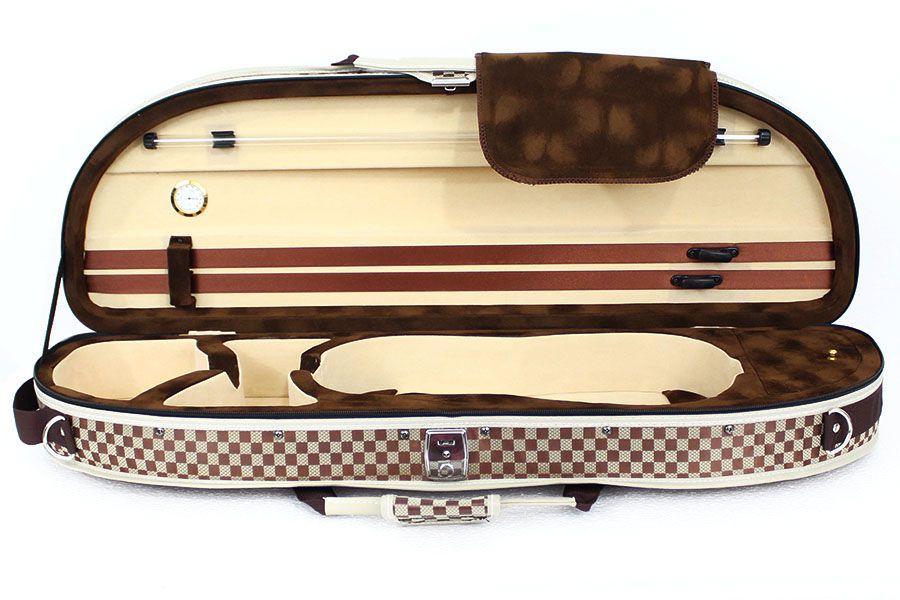 Estojo Case Térmico Para Violino 4/4 Meia Lua Xadrez