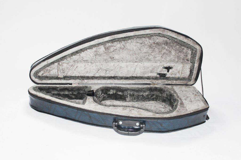 Estojo Formato Luxo Azul Para Violino 4/4