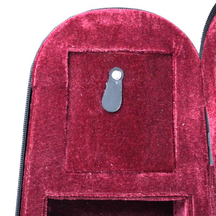Estojo gota para violino 4/4 interior vinho
