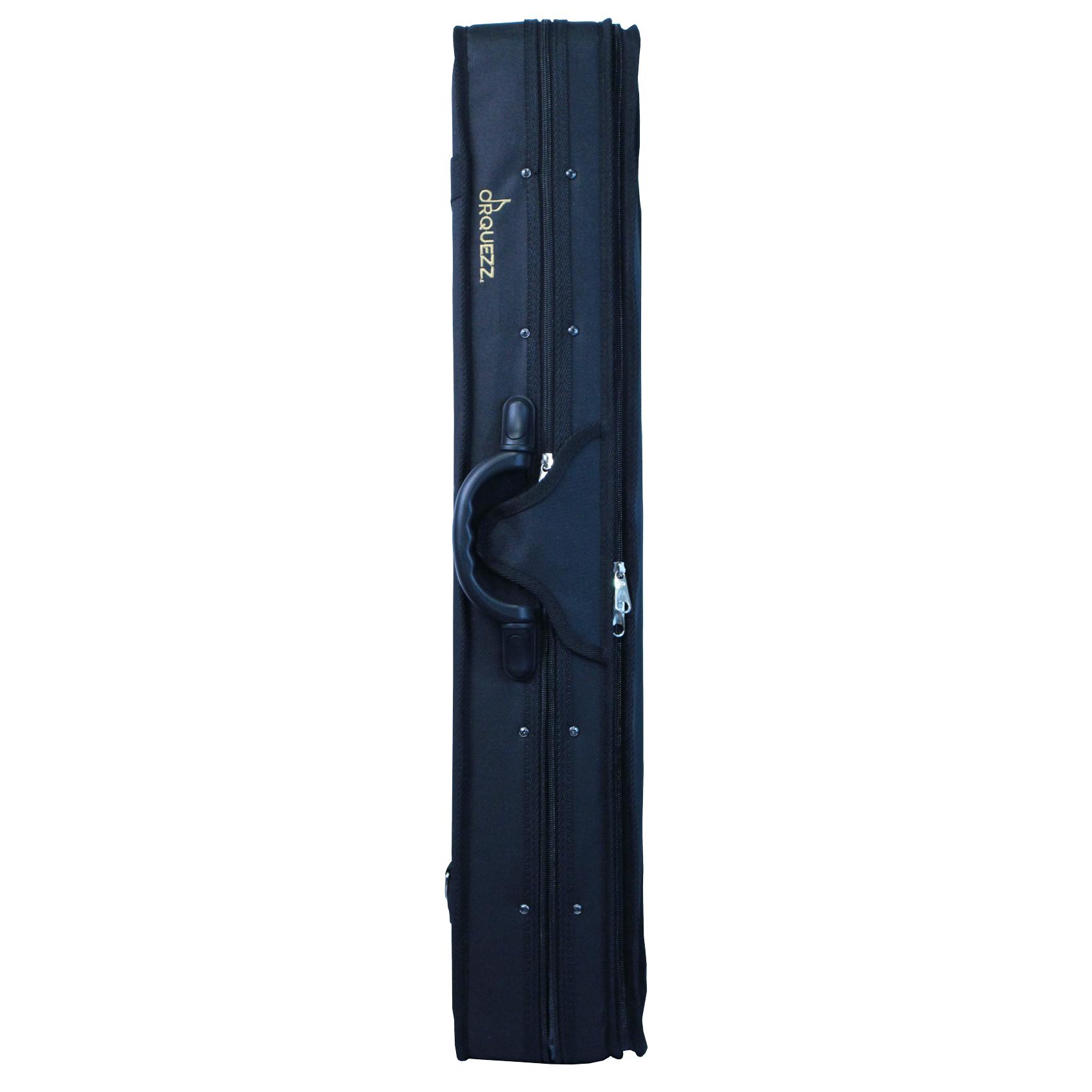 Estojo retangular térmico para violino na cor preta (exterior) e cinza espacial (interior)