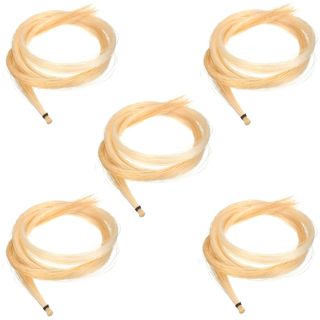 Kit com 5 crinas animal para arco violino/viola/violoncelo