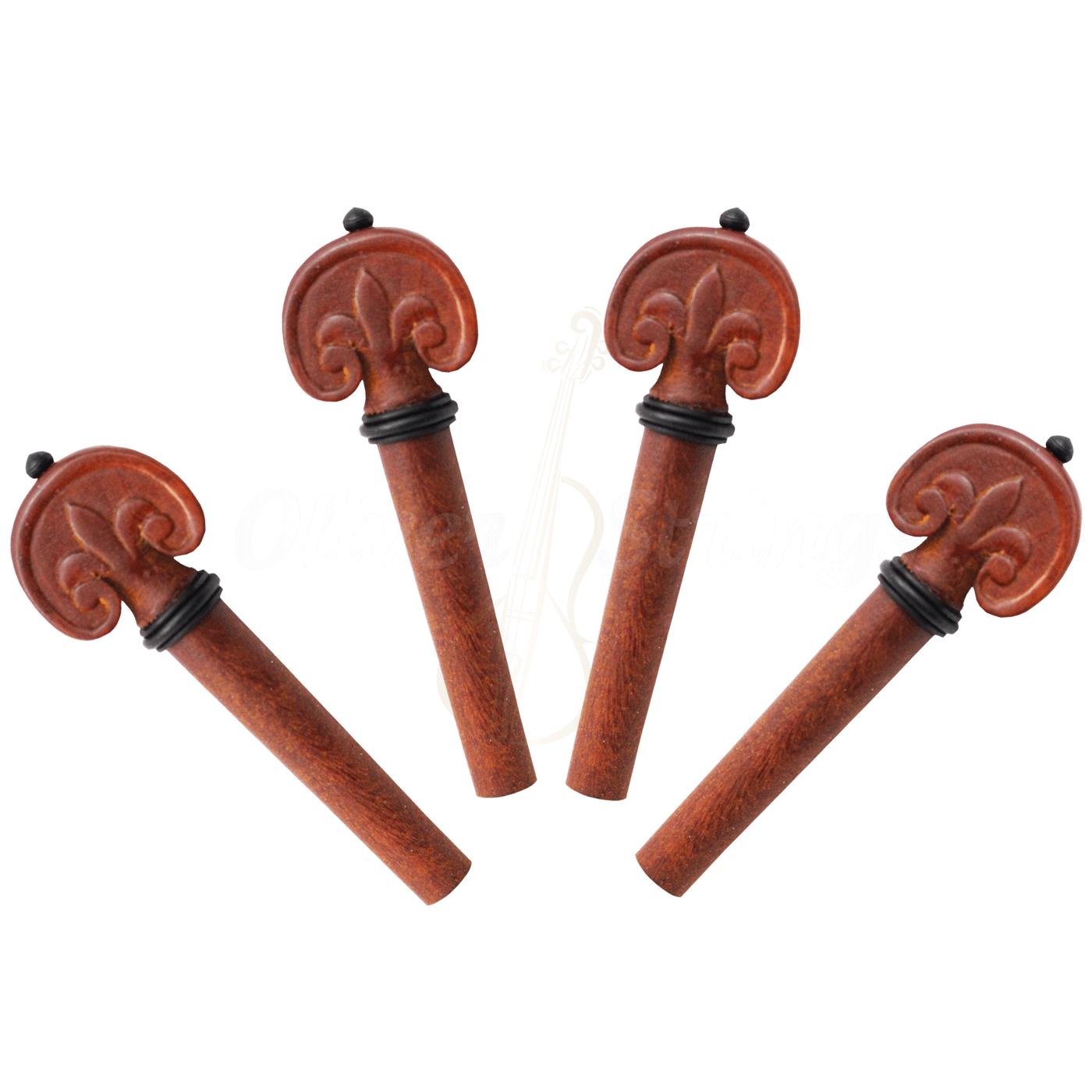 Kit de cravelhas boxwood entalhado para violoncelo