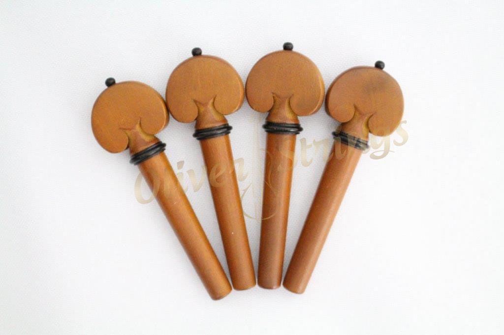 Kit de Cravelhas em Boxwood para violino modelo coração