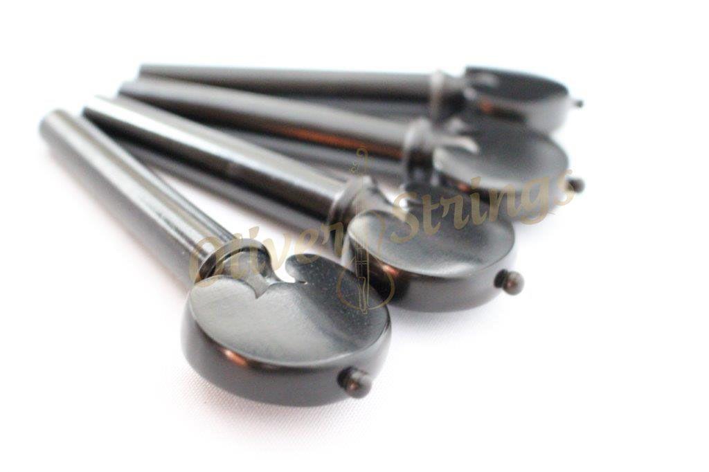 Kit de Cravelhas em ébano modelo coração para cello