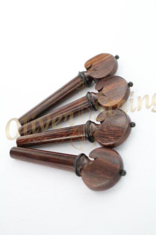 Kit de Cravelhas em Tamarindo para violino modelo coração