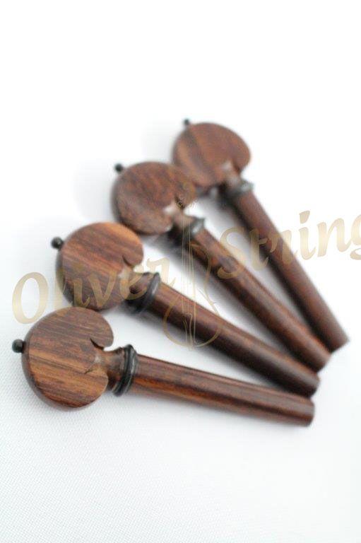 Kit de Cravelhas em Tamarindo para violino modelo Hill