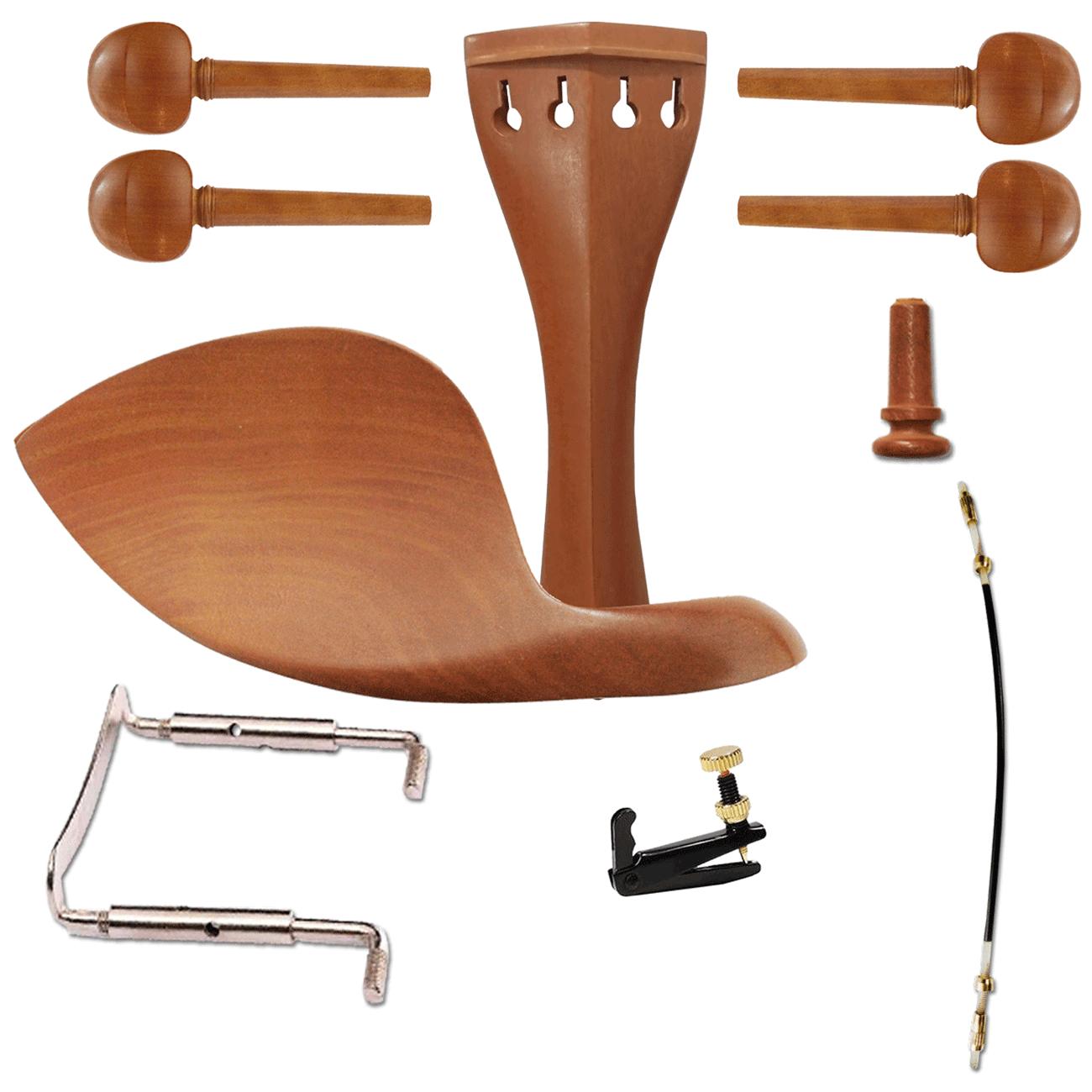 Kit De Montagem Para Violino 4/4 boxwood simples COMPLETO