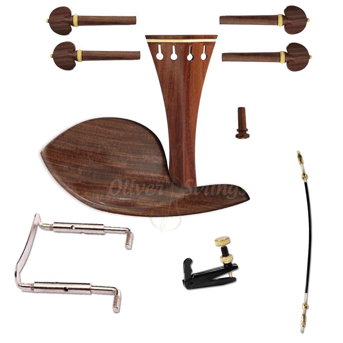 Kit de montagem para violino 4/4 com Queixeira Guarneri Completo
