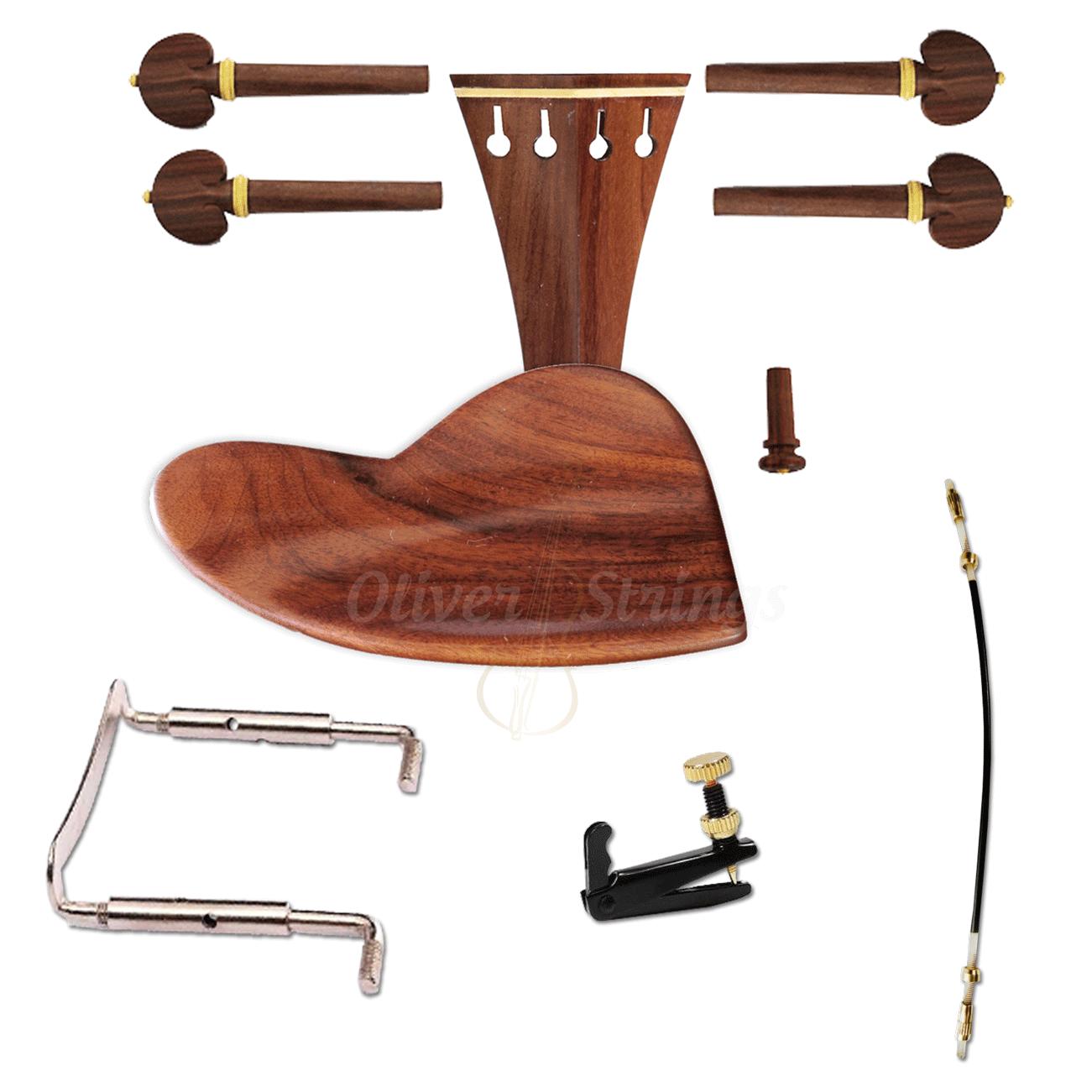 Kit de Montagem para Violino 4/4 com Queixeira modelo Berber Completo