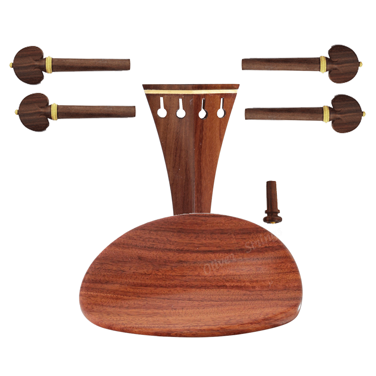 Montagem para violino 4/4 com Queixeira Modelo Central