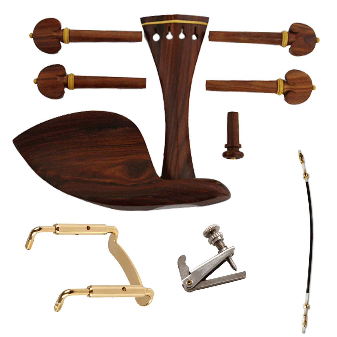 Kit De Montagem Para Violino 4/4 Rosewood COMPLETO