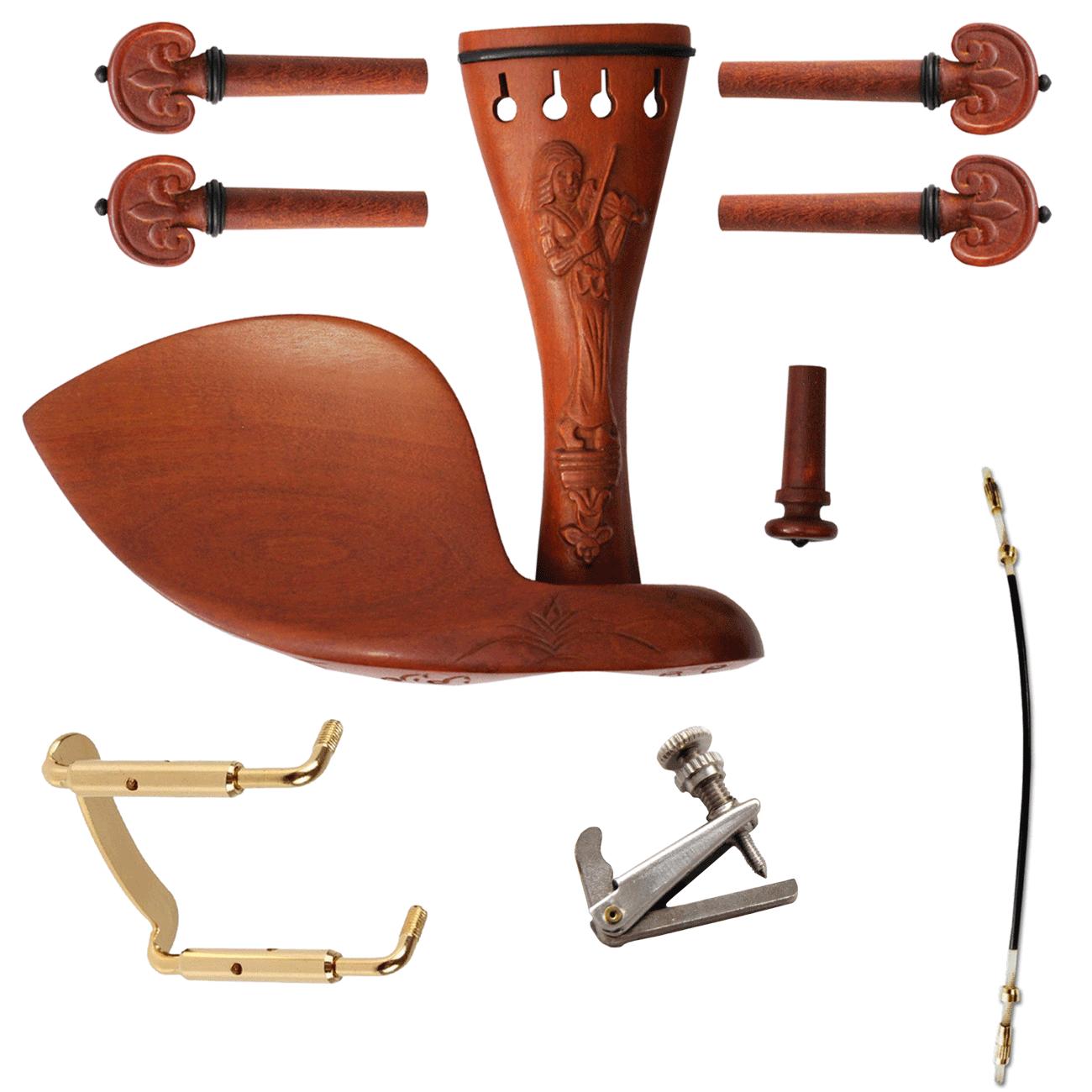 Kit Montagem Boxwood Entalhada para Violino 4/4