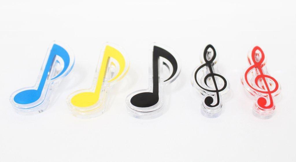 Prendedor Partitura/ Hinário/ Livros Clip Musical Coloridos