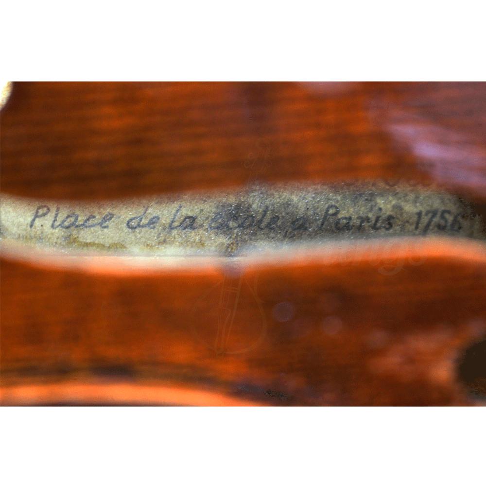 Salomon Luthier a St Cecille Place de la ecolle a Paris 1756