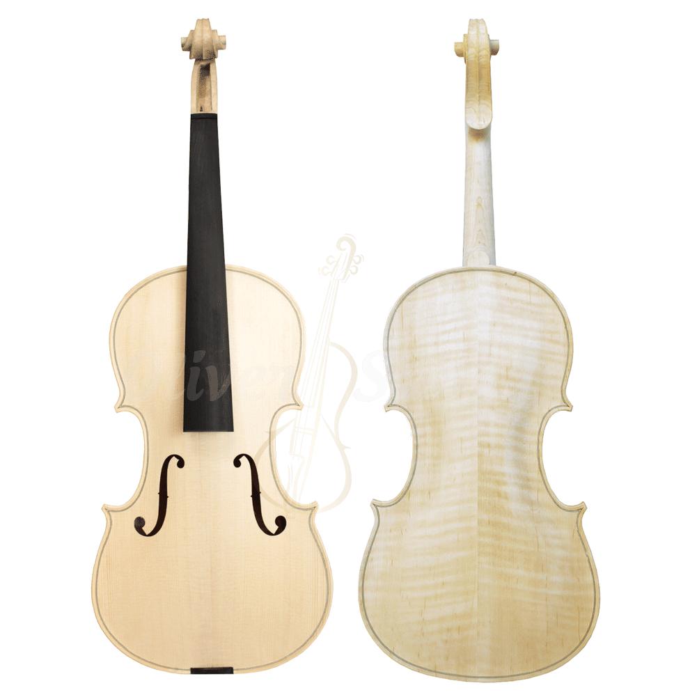 Violino Artesanal com Fundo Bipartido Modelo Stainer Branco Inacabado 4/4
