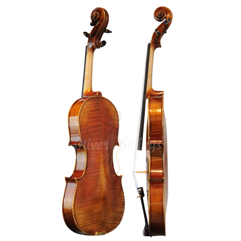 Violino feito à mão com fundo bipartido modelo strad AAA