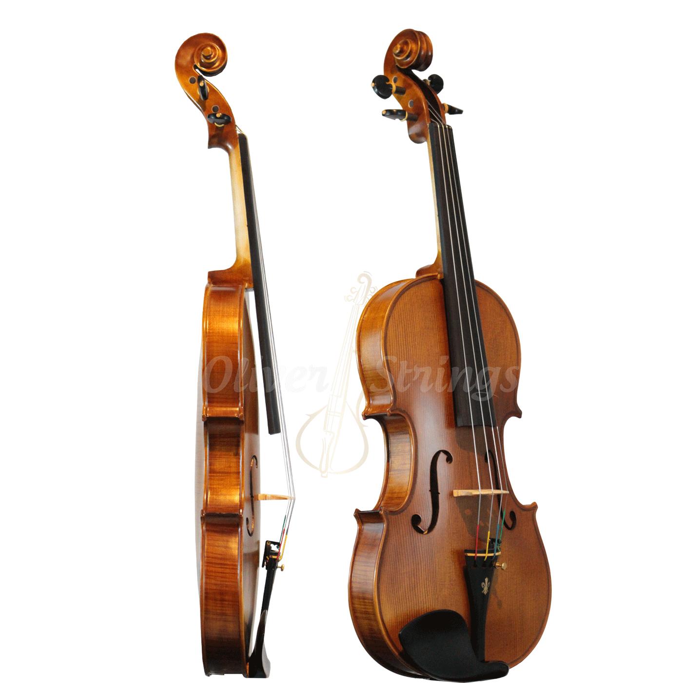 Violino feito à mão fundo bipartido modelo strad 4/4