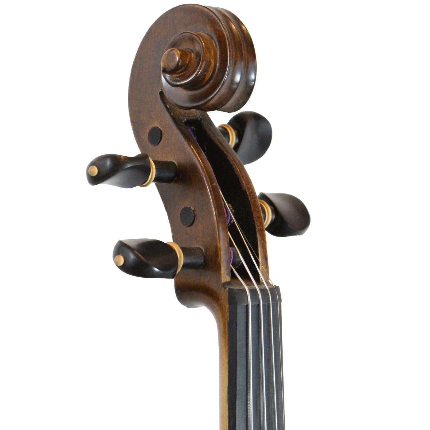Violino feito à mão fundo bipartido modelo strad 4/4 fosco