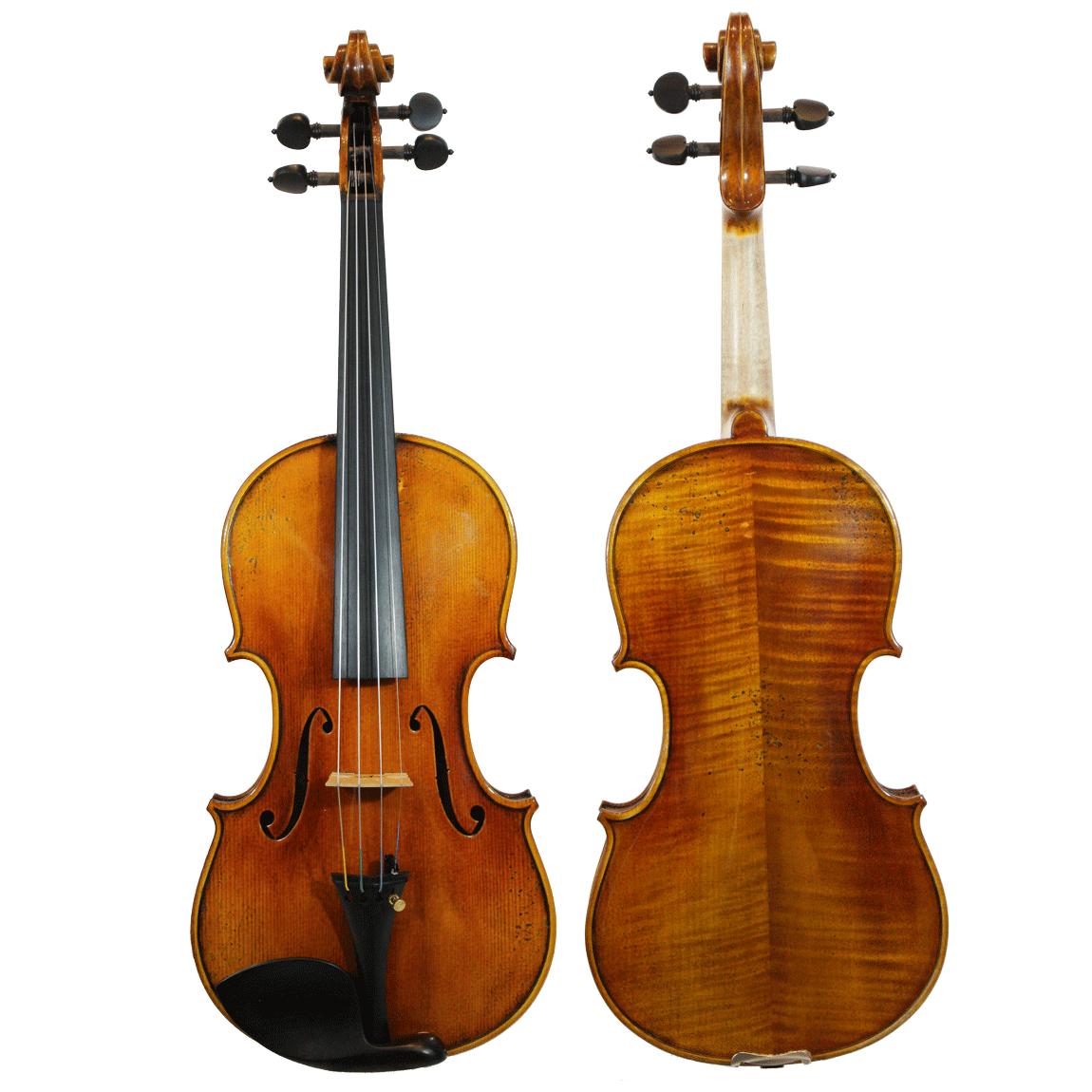 Violino feito à mão modelo Guarneri 4/4 verniz goma laca