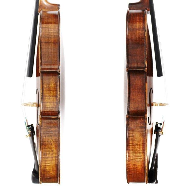 Violino feito à mão modelo strad 4/4 escuro fosco