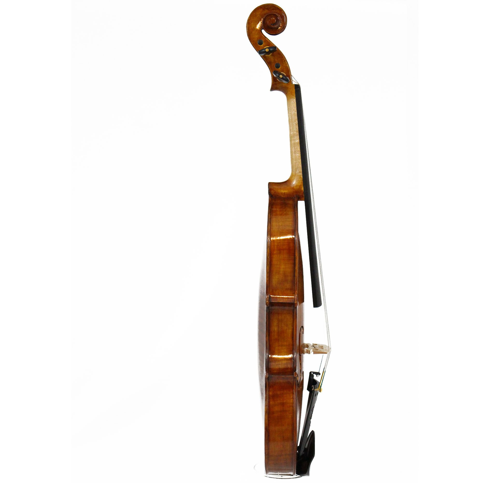 Violino feito à mão modelo strad 4/4 verniz goma laca