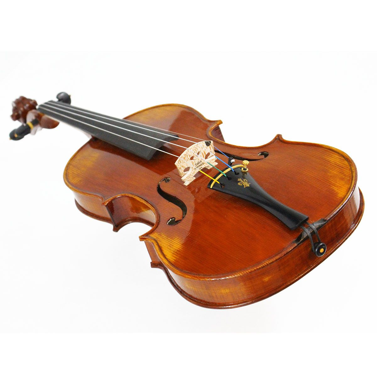 Violino feito à mão modelo strad 4/4 verniz goma laca castanho escuro envelhecido