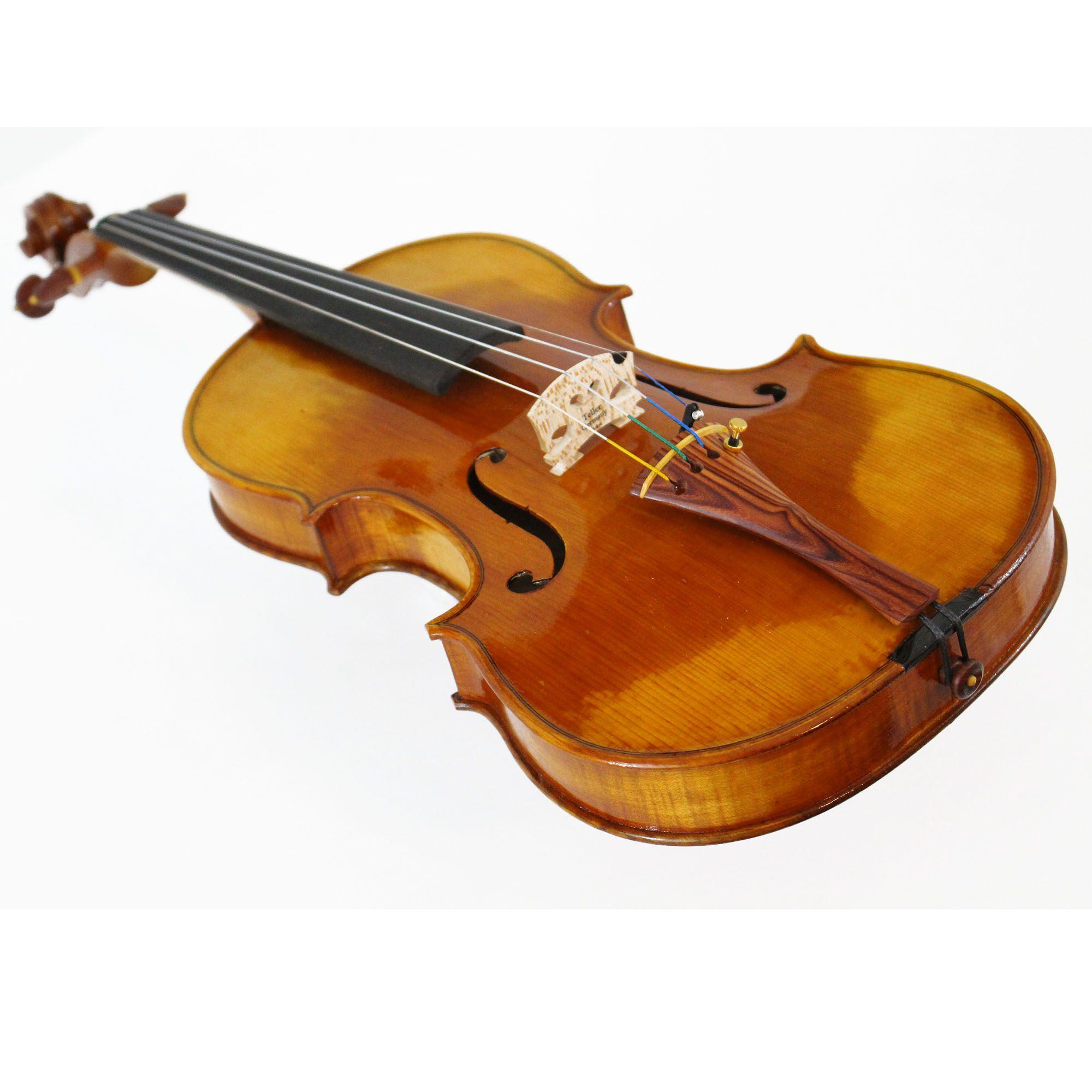 Violino feito à mão modelo strad 4/4 verniz goma laca castanho envelhecido