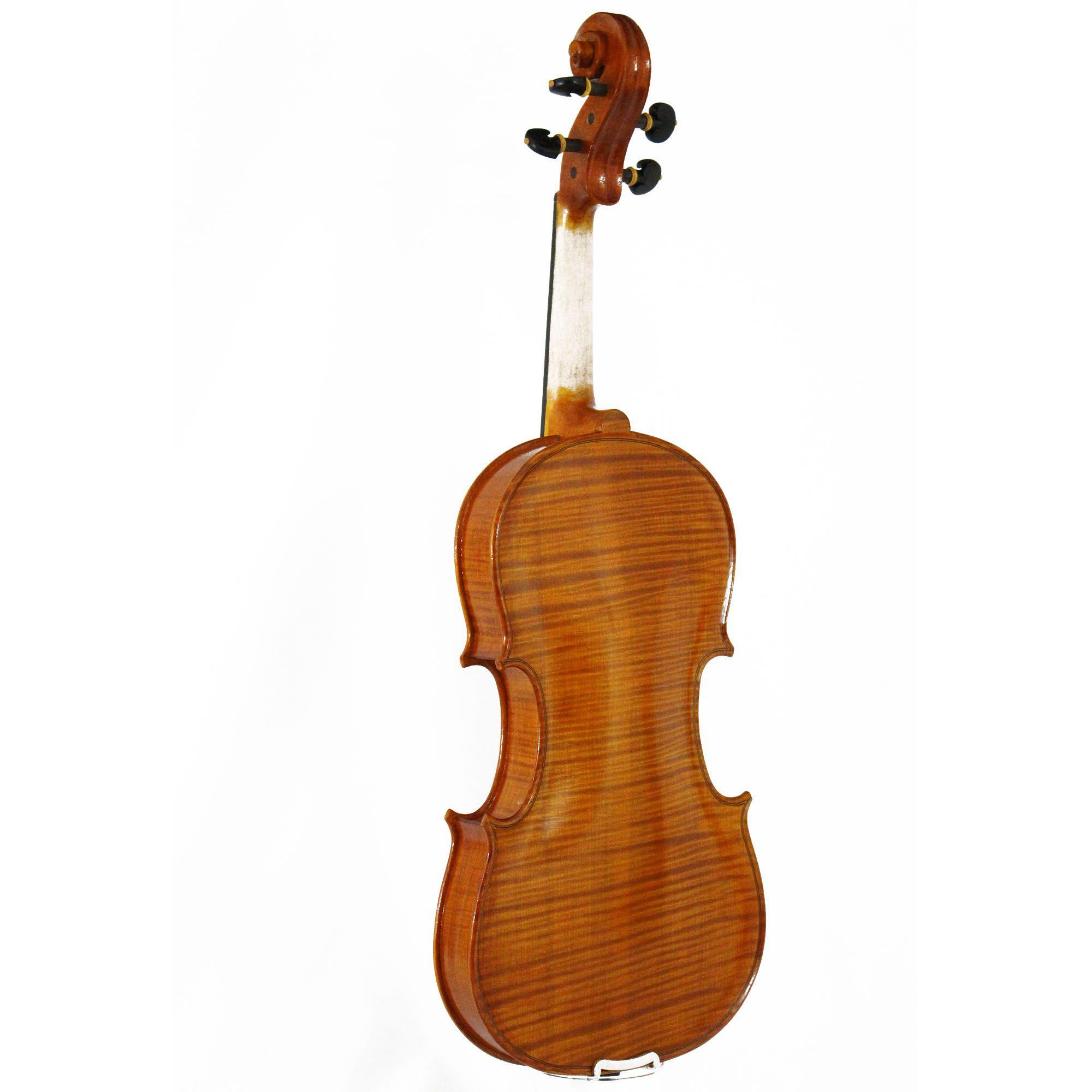Violino feito à mão modelo strad 4/4 verniz goma laca Natural