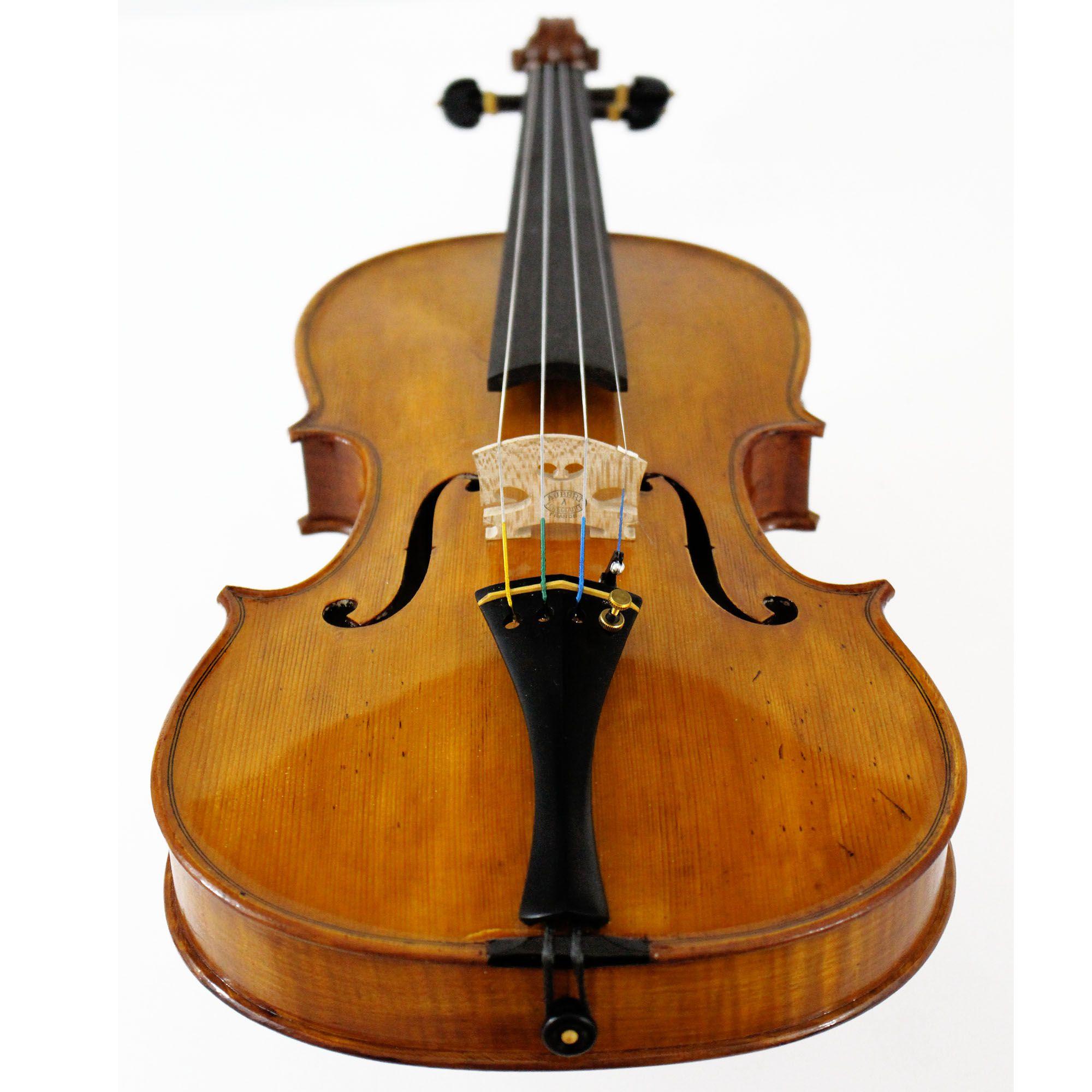 Violino feito à mão modelo strad 4/4 verniz goma laca Natural envelhecido
