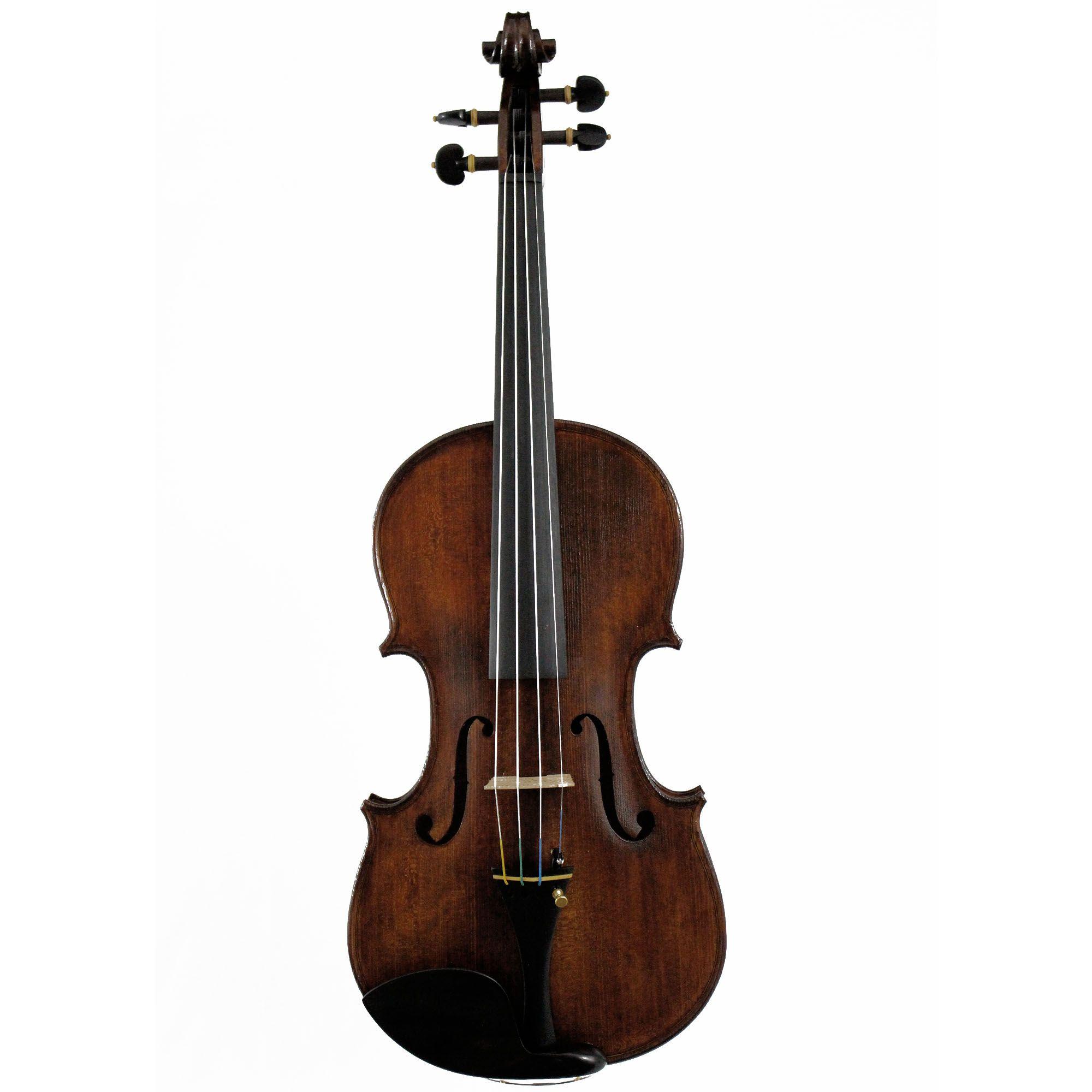 Violino feito à mão modelo strad 4/4 verniz goma laca Nogueira envelhecido