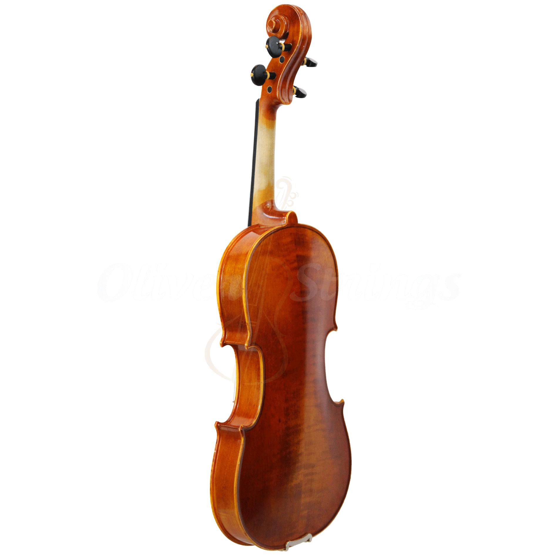Violino intermediário modelo strad fundo bipartido fosco 4/4