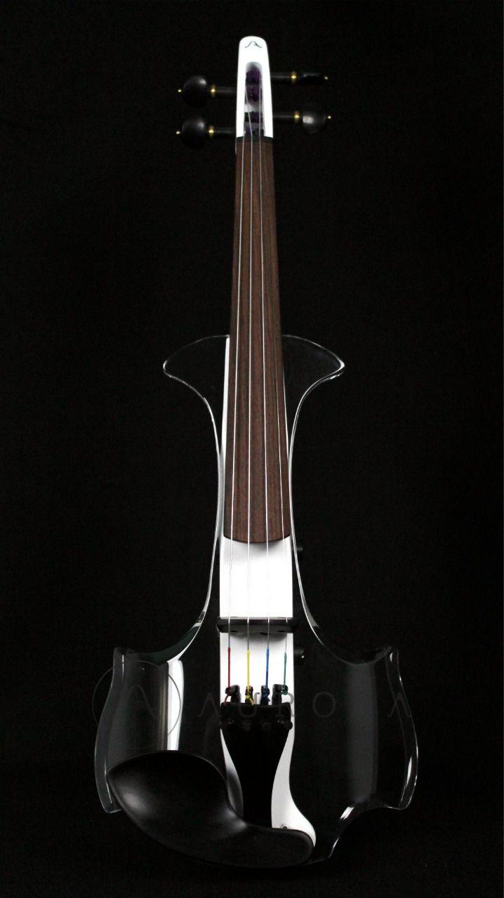 Violino Profissional 4/4 Elétrico Aurora Class branco