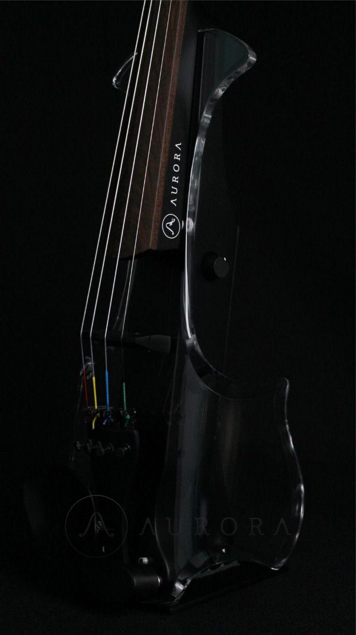 Violino Profissional 4/4 Elétrico Aurora Class preto