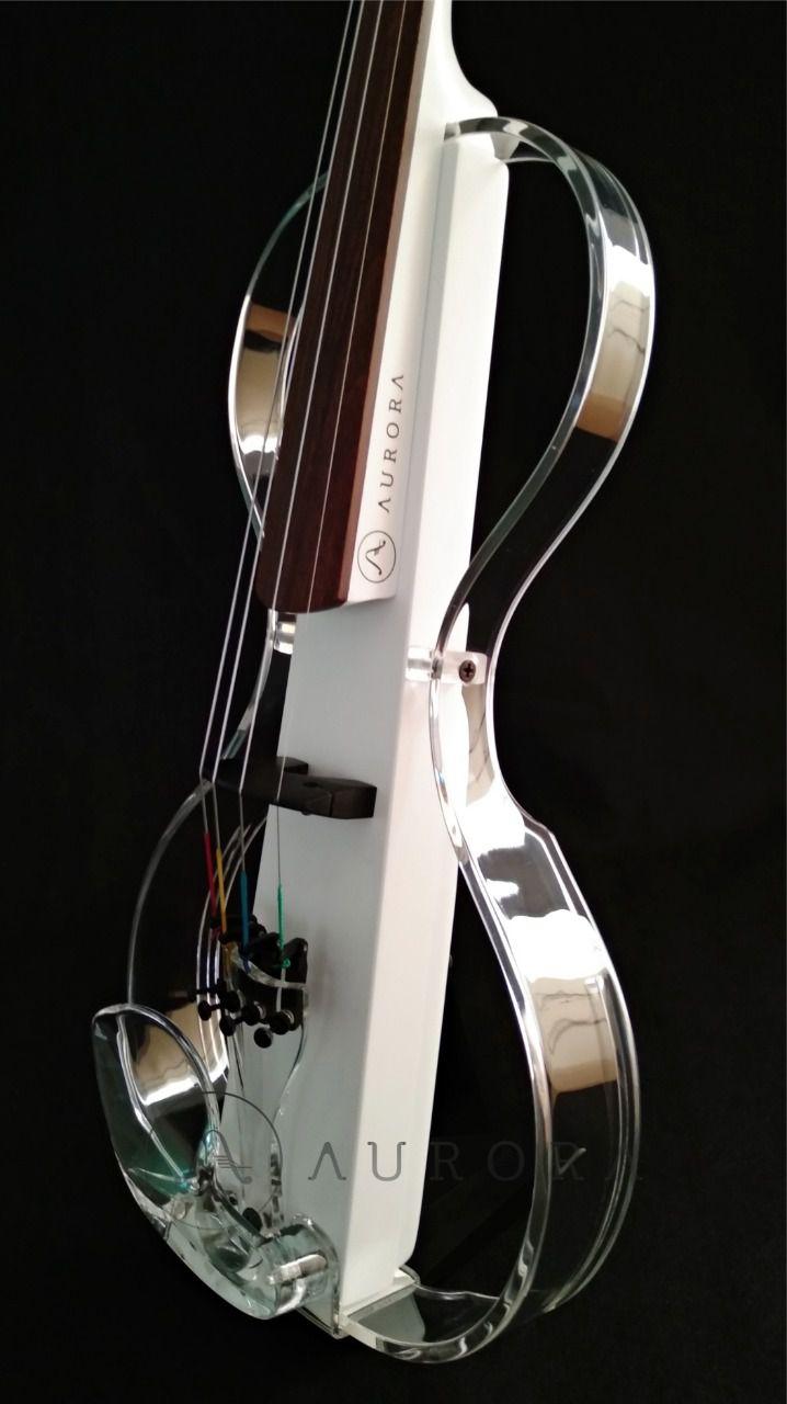 Violino Profissional 4/4 Elétrico Aurora Silhouette Branco