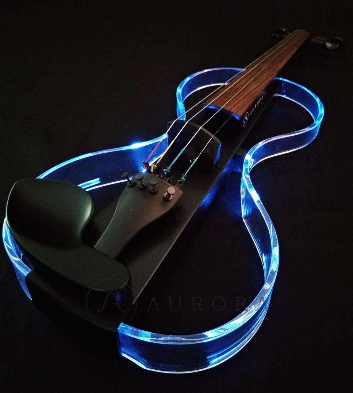Violino Profissional 4/4 Elétrico Aurora Silhouette preto