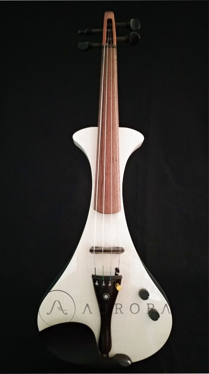 Violino Profissional 4/4 Elétrico Aurora WS Branco