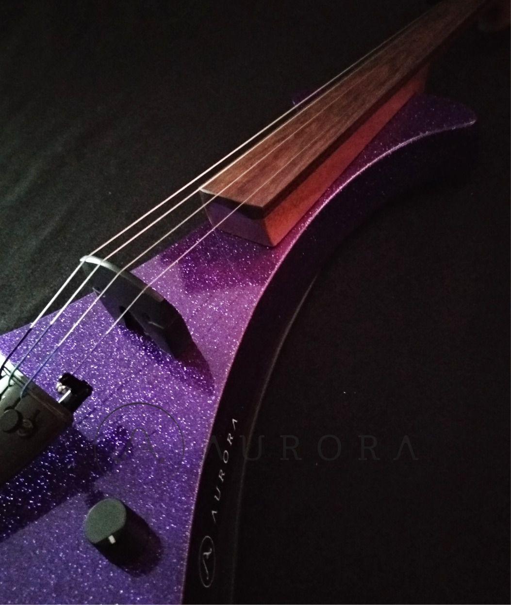 Violino Profissional 4/4 Elétrico Aurora WS   purple sparkle