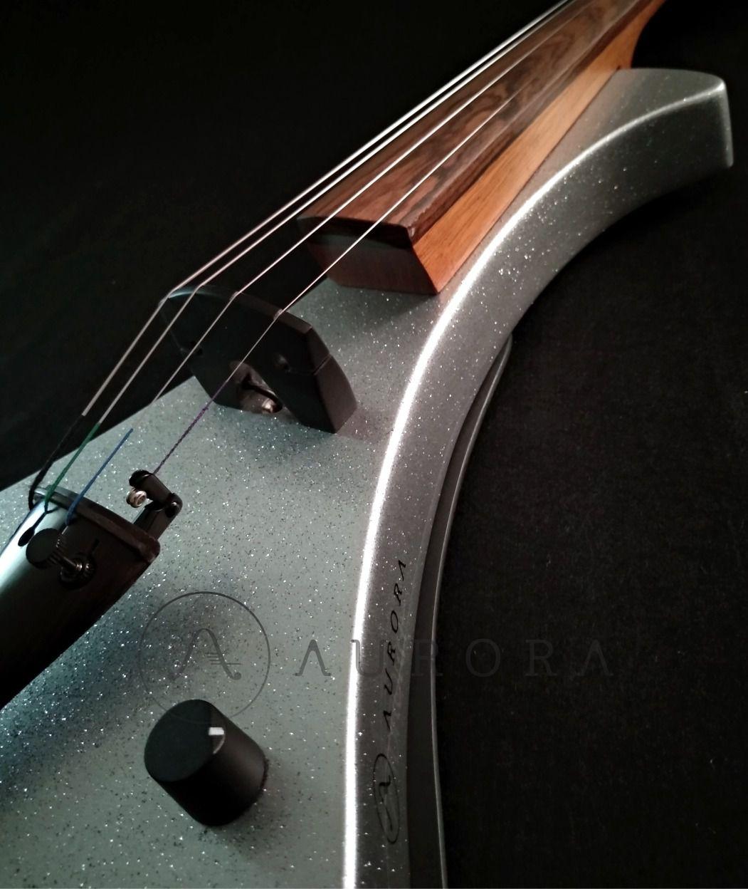 Violino Profissional 4/4 Elétrico Aurora WS  silver sparkle