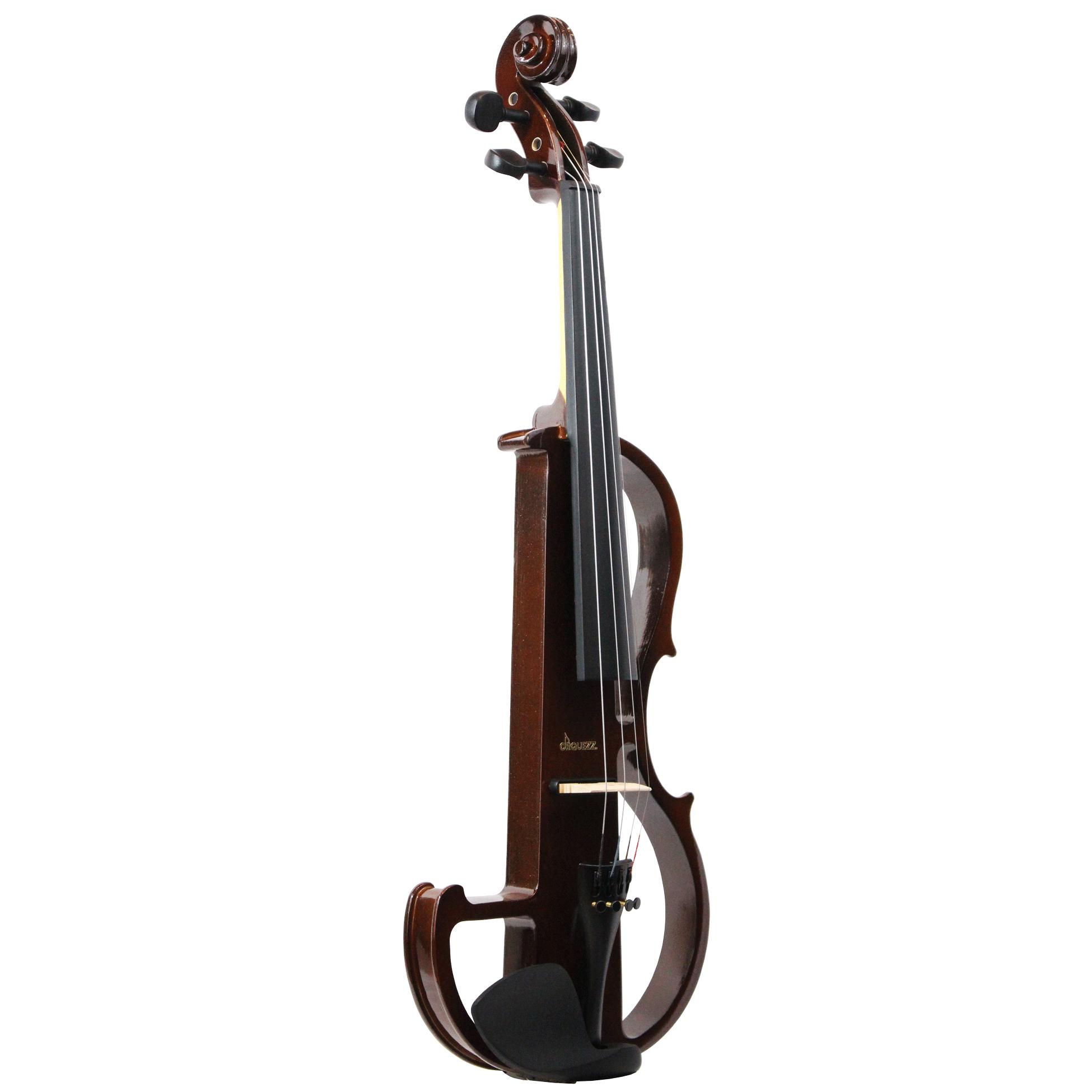 Violino elétrico Orquezz Classic 4/4: Marrom