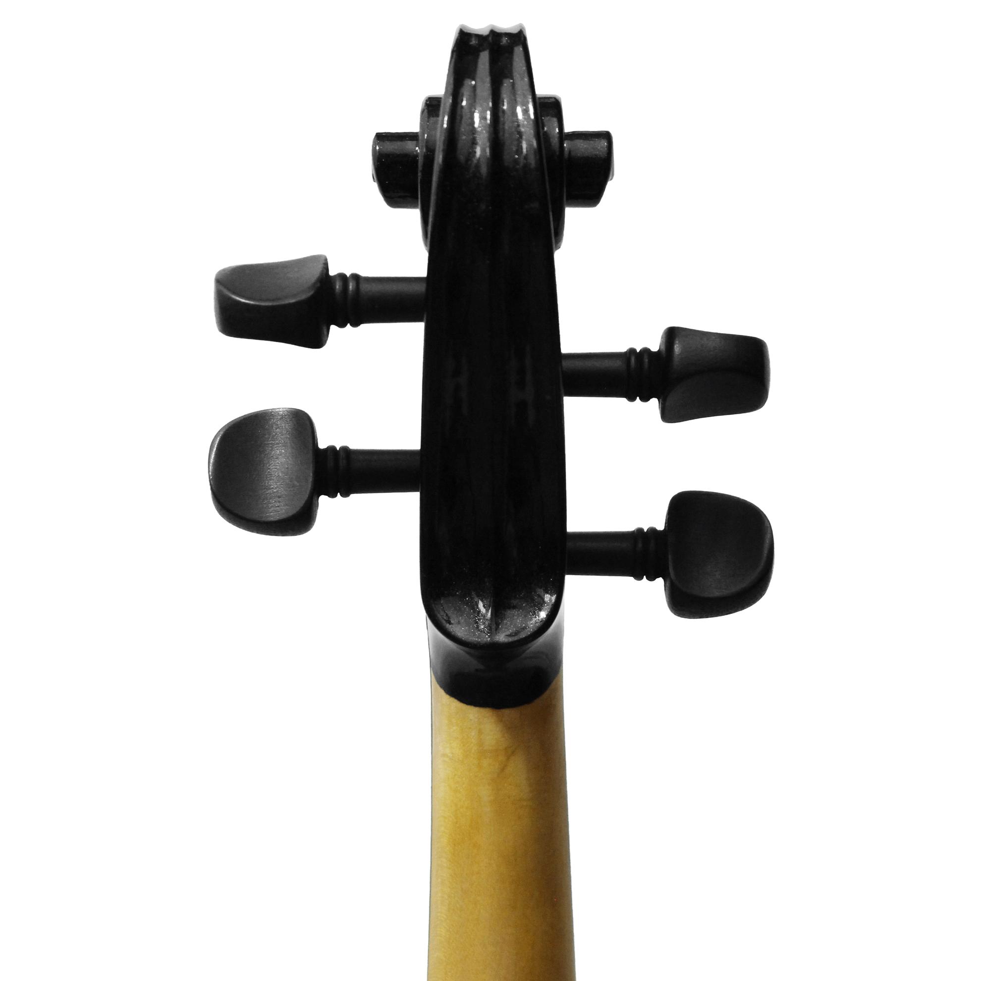 Violino Intermediário Elétrico Orquezz Classic 4/4: Preto