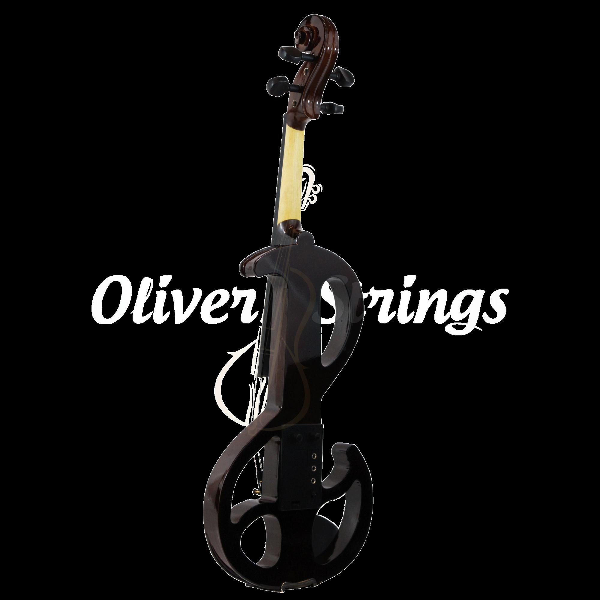 Violino Intermediário Elétrico Orquezz Outline 4/4: Marrom