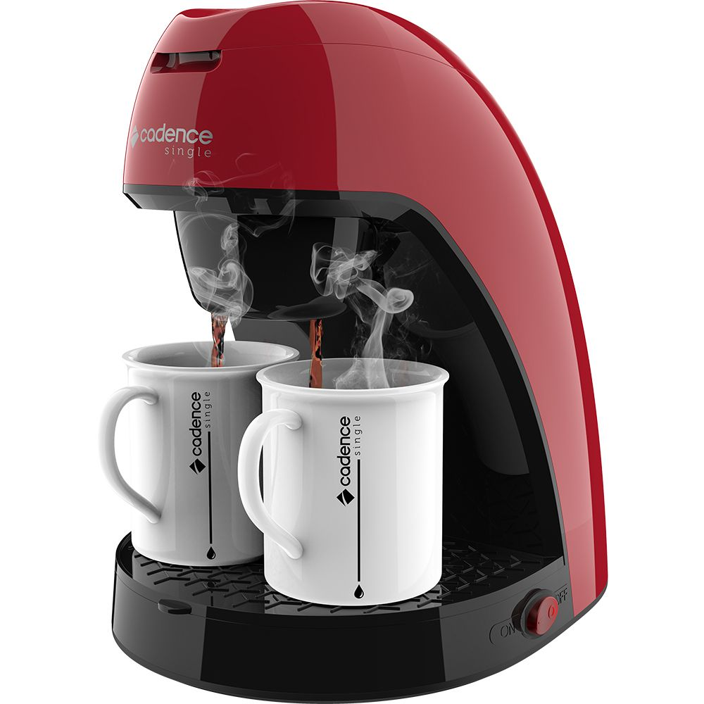 Cafeteira Elétrica Cadence Vermelha Com Filtro Permanente 110V