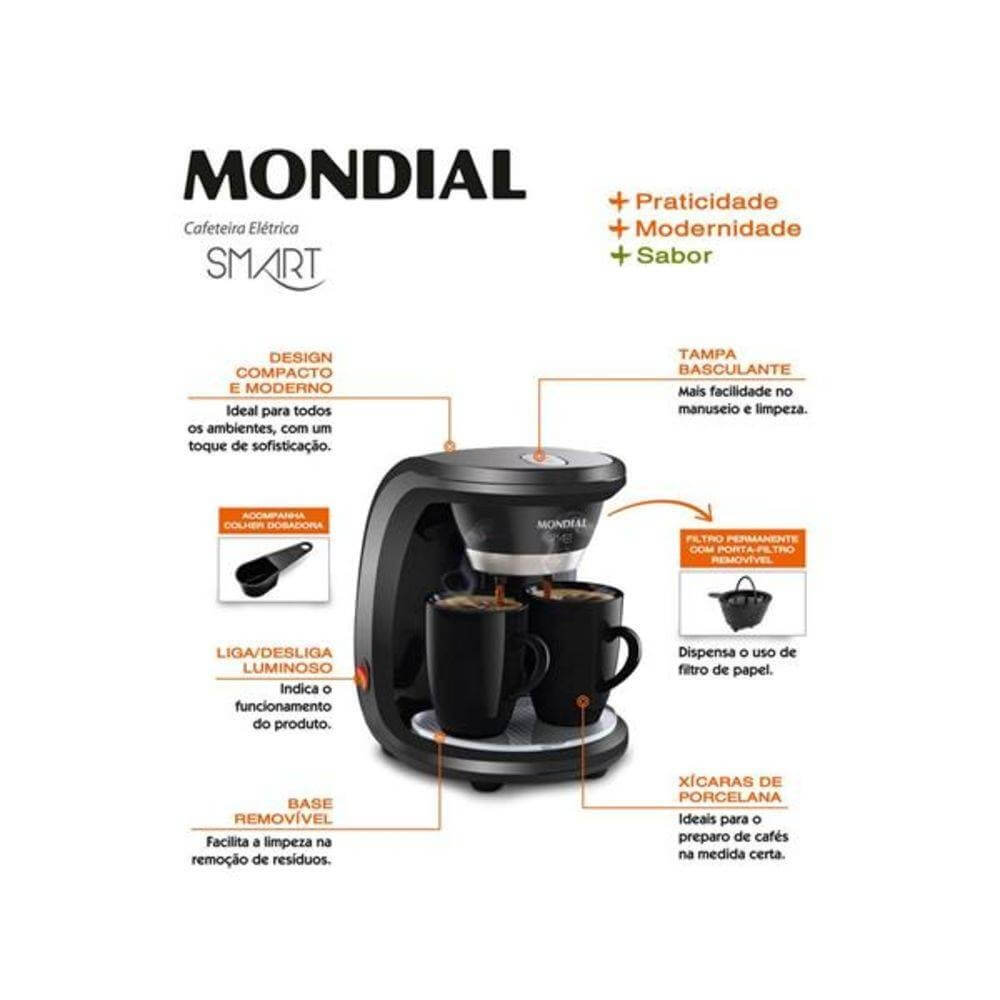 Cafeteira elétrica Mondial Smart C-18