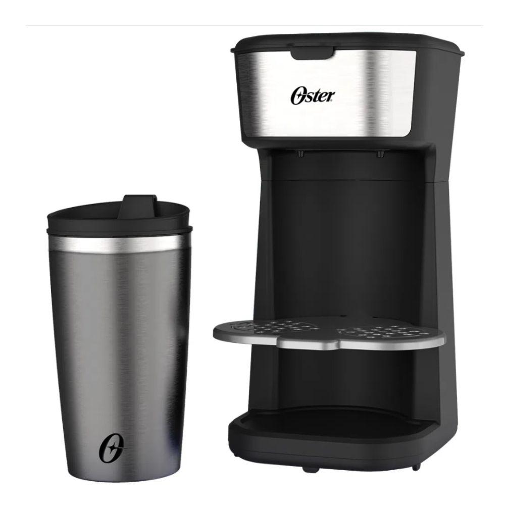 Cafeteira Elétrica Preta Copo Térmico Bandeja Regulável