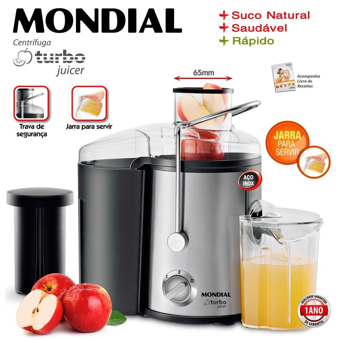 Centrífuga de fruta Turbo Juicer Mondial