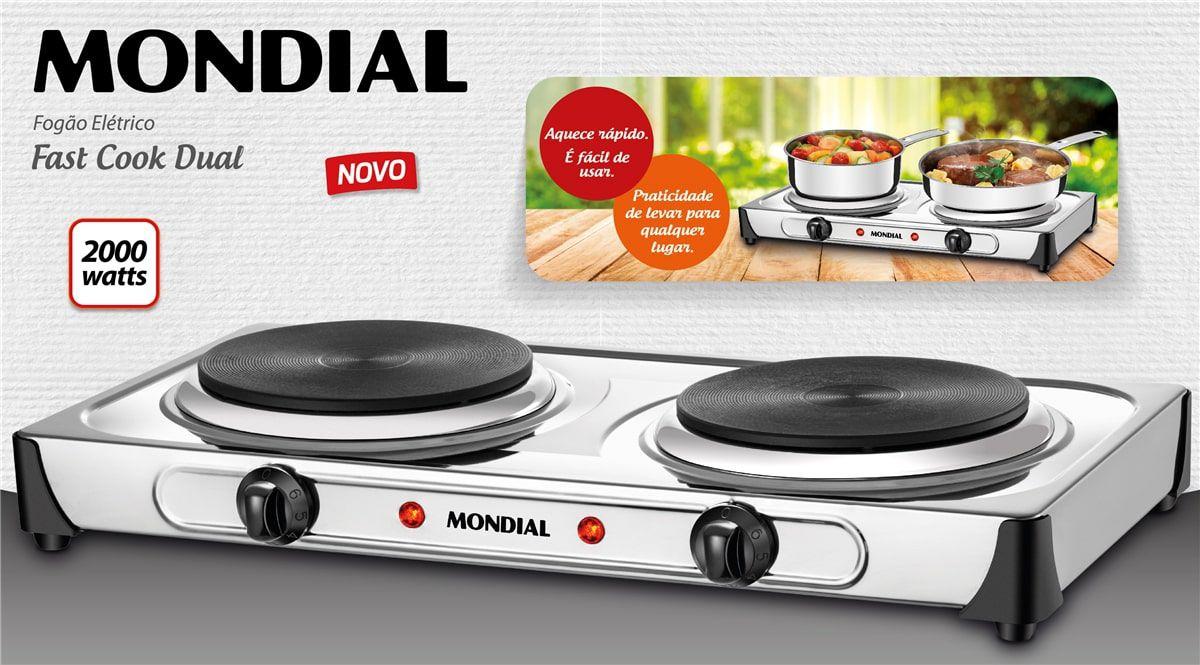 Fogão Elétrico Fast Cook Dual Mondial