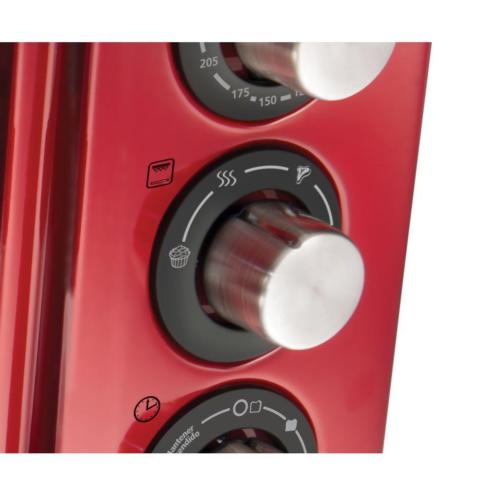 Forno Oster Vermelho 15L Desligamento Automático