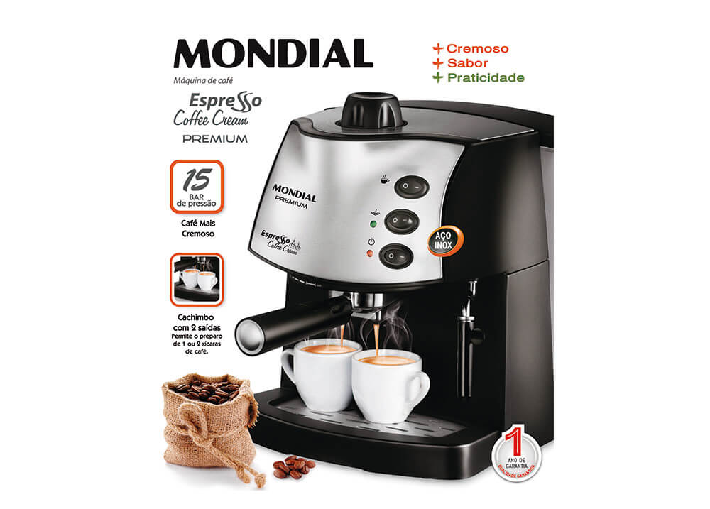 00d3d860d ... Máquina de Café Expresso Mondial Coffee Cream Premium - Lucta Shop